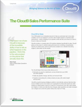 Cloud9 Sales Performance Suite